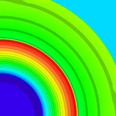 density, t = 0.8