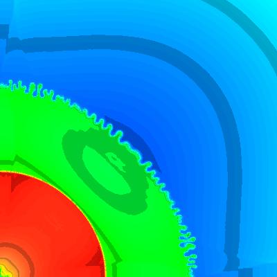 density, t = 2.4