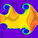 128x128 cells - density, t=5.0
