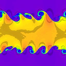 256x256 cells, density, t=2.5