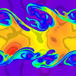 256x256 cells, density, t=5.0
