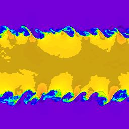 256 x 256 cells - density, t=2.5