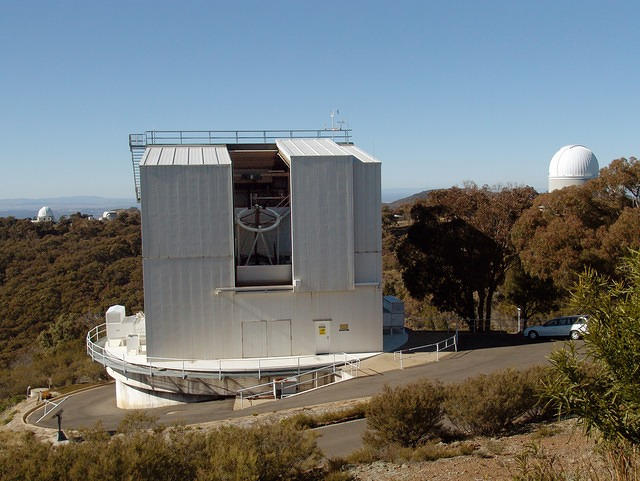 Siding Spring Observatory 2.3 m (enclousure, with the AAT off to the far right)