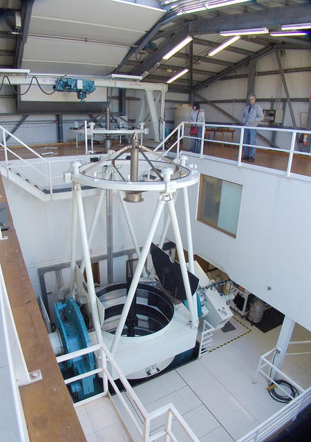 Siding Spring Observatory's 2.3 m telescope (wide and high vantage point)