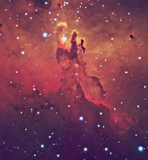 Eagle  Nebula (centre)