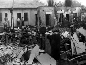 Damage from the 1952 fire