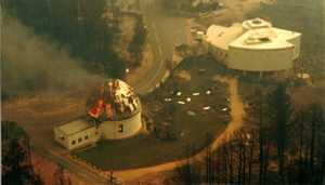 The Yale-Columbia telescope burning