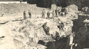 Excavating the basement laboratory for the Commonwealth Solar Observatory, 1926