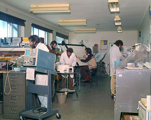 Electronics workshop, 1977