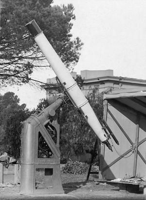 Oddie, erected at Melbourne observatory for testing before moving to Stromlo