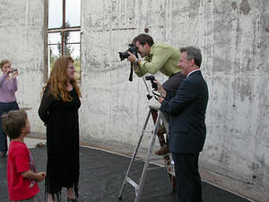 Ms Ruth Watson being photographed