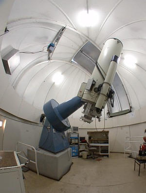Siding Spring Observatory's 24 inch telescope (inside)